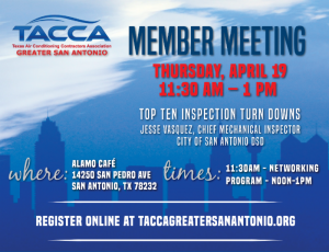 TACCA Greater San Antonio Monthly Member Meeting