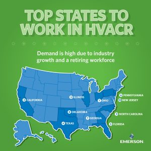 Emerson Releases The Top States To Work In Hvacr Air Conditioning
