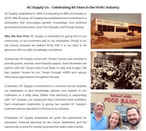 AC Supply Company Celebrating 60 Years in the HVAC Industry